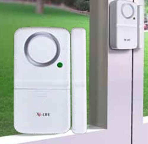 2 Stück Fenster & Tür Alarm Sensor + Sirene - Einbruch Diebstahl Schutz ! Türalarm / Fensteralarm FUNK Alarmanlage Alarm Alarmsystem Mini