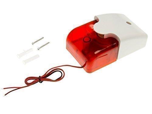 Adapter-Universe® Alarmanlage Sirene Sicherheit System Alarm LED Stroboskop Signalgeber Signal 12V