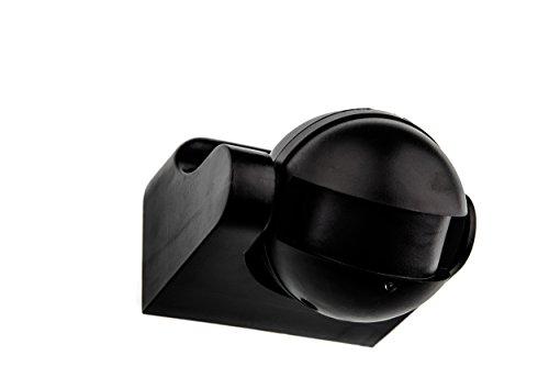 HUBER MOTION 60HF, Bewegungsmelder 180°, schwarz, vertikal einstellbar, hochsensibel durch Radar-Technik