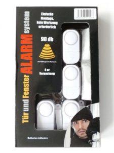 Tür und Fenster Alarm System 4-er Set Türalarm Fensteralarm Alarmanlage