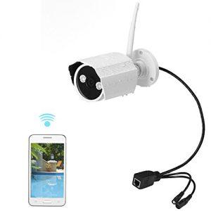 NexGadget Outdoor IP Kamera,IP66 wasserdichte IP Überwachungskamera ,Sicherheitskamera für Außen , IR-Cut HD Nachtsicht, Bewegungserkennung Alarm,Eingebaut 8G Micro SD-Karte, Plug & Play, wetterfest für außen