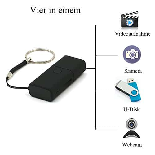 angmi kleinste Mini HD Kamera mit Bewegungsmelder als USB Stick mini USB Kamera Überwachungskamera kleine Kamera Überwachung USB Stick Kamera mini USB Stick Speicherkamera