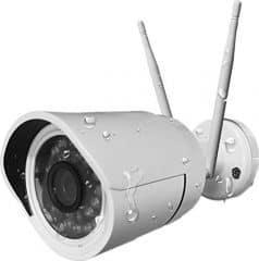 HiKam Wireless IP Kamera HD für Außenbereich mit deutscher App/Anleitung/Support, weiß, A7