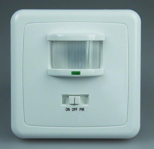 Unterputz PIR-Bewegungsmelder 160° LED geeignet, 3-Draht Technik, weiß