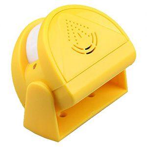 WER Smart-Infrarot-Sensoren Infrarot drahtlose elektronische Anti-Diebstahl-Alarm (Gelb)