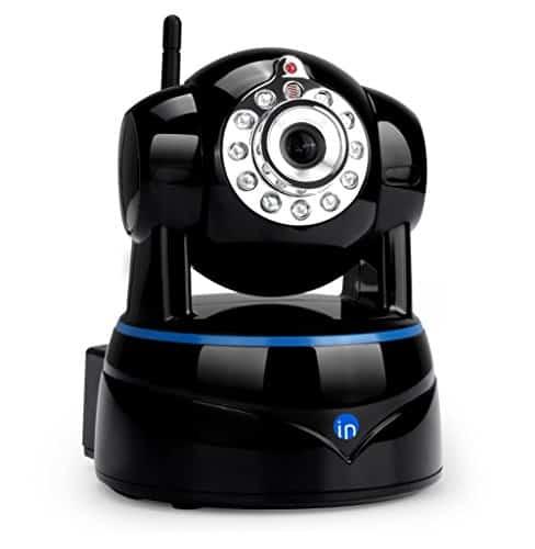 IdeaNext 1080P WLAN Kamera Indoor WiFi Schwenk-Neige-IP Kamera/Zuhause Überwachungskamera/Baby Monitor mit IR-Nachtsicht, Bewegungserkennung, Remote Video, Eingebautes Mikrofon und MicroSD-Karten-Slot