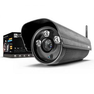 INSTAR IN-5907HD Wlan IP Kamera / HD Sicherheitskamera für Außen / IP Überwachungskamera / IP cam mit LAN & Wlan / Wifi für Outdoor (3 HighPower IR LEDs, Infrarot Nachtsicht, wetterfest für außen, SD Karte, Bewegungserkennung, Aufnahme, WDR) schwarz