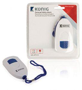 KÖNIG Handtaschen Alarm Sirene Selbstverteidigung Überfall Camping Panik LKW PKW Handgerät Taschenalarm Knopf Sirene