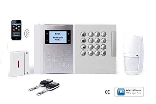 LGtron GSM Funk Alarmanlage LGD8003 (Deutschsprachige Menuefuehrung, Sprachausgabe und Bedienungsanleitung) mit 868 MHz Funk-Sicherheitsfrequenzband, bei Alarm Anruf/SMS, Mittels Android/iOS-App steuerbar, Service und Support