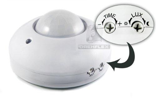 DREHFLEX® - 360° Decken Bewegungsmelder / Deckenbewegungsmelder LED geeignet