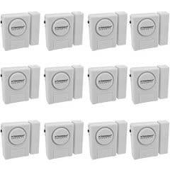 [12 Stück]WER Alarmanlage fürs Haus, Doberman Sicherheit SE-0137 Home Security Fenster / Tür Alarm Kit, Packung mit 12 Stück (weiß)