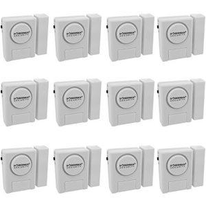 WER Alarmanlage fürs Haus, Doberman Sicherheit SE-0137 Home Security Fenster / Tür Alarm Kit, Packung mit 12 Stück (weiß) - [12 Stück]
