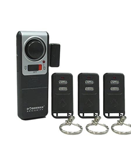WER DOBERMAN SECURITY Menci Alarmanlage Fenster Alarm Super laute Alarm mit einer Fernbedienung