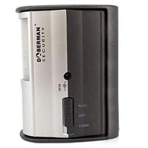 WER DOBERMAN SECURITY Motion Alarm-Detektor mit Infrarot-Sensor und lautes 100dB Alarm oder Chime - Funktionen Lange Batterie-Lebensdauer + einstellbare Halterung ermöglicht Breite Abdeckung - Ideal für Haus, Büro, Garage, oder keine Zimmer - Modell SE-0104