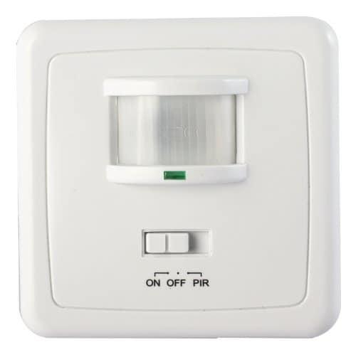 Bewegungsmelder 600 W Licht Schalter LED Wand Einbau Infrarot Unterputz Weiß205