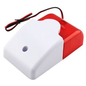 SODIAL(R) 12V Verkabelt Sound Alarm Strobe Blinklicht Sirene Home Security System