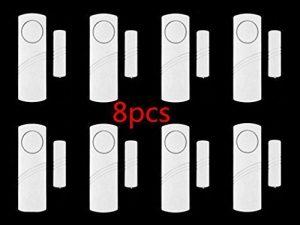 Wireless Home Tür Fenster, Intsun 8er Alarmanlage, Mini Tür und Fensteralarm, Wireless Fensteralarm, Funk Alarmanlage,Türalarm, Home Security Sensor Alarm, System , Mini-Fensteralarm für Fenster, Türen und Schränke, zum Schutz vor Einbruch, warnt bei geöffneten Türen und Fenstern