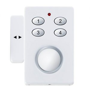 SEBSON Fensteralarm, Türalarm, Funk, Solar- und Batteriebetrieben, Einbruchschutz mit Code