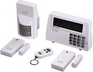 """Xavax Alarmanlage Funk fürs Haus """"FeelSafe"""" (laute 120dB Sirene, komplettes Alarmsystem inkl. Basisstation, Bewegungssensor, 2 Fenster-/Türsensoren und Fernbedienung mit Panik-Funktion) Sicherheit beliebig erweiterbar"""