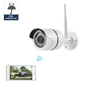 NexGadget Outdoor IP Kamera,IP66 wasserdichte IP Überwachungskamera ,Sicherheitskamera für Außen , IR-Cut HD Nachtsicht, Bewegungserkennung Alarm, Plug & Play, wetterfest für außen