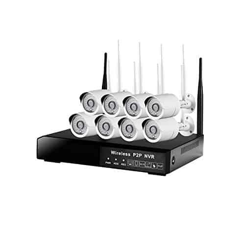 Security-Kamera-Systeme DOHAOOE HI3520D 8CH 1.3MP 500m IPC WiFi Installationssatz 72Mbps drahtloser Eingang im Freien Netz-Hauptüberwachungskamera-System