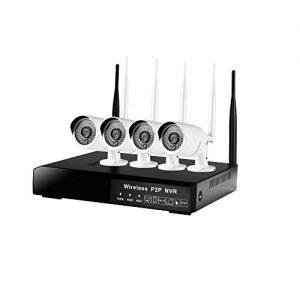 Security-Kamera-Systeme DOHAOOE HI3520D 4CH 1.3MP 500m IPC WiFi Installationssatz 72Mbps drahtloser Eingang im Freien Netz-Hauptüberwachungskamera-System