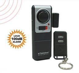 WER DOBERMAN SECURITY Menci Alarmanlage Fenster Alarm Super laute Alarm mit 3 Fernbedienungen