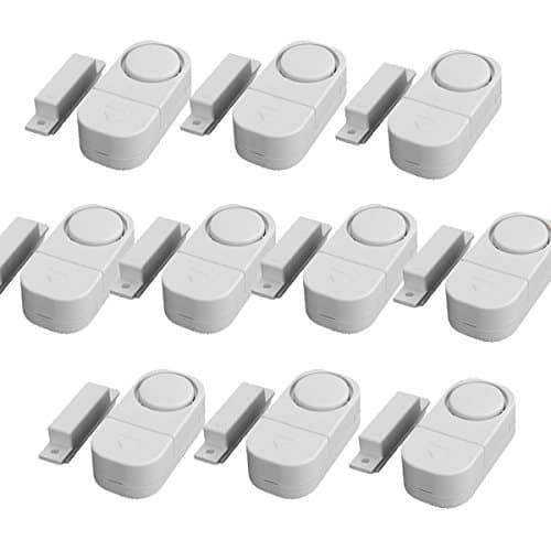 WER Drahtlose Tür/Fenster Einbrecher DIY Sicherheits-Alarm-System Magnetsensor (10 Stück)