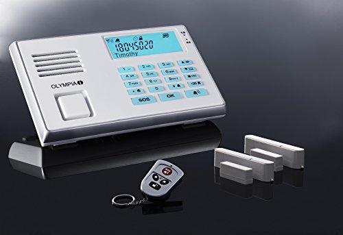 Olympia Protect 9035 Alarmanlage in Weiß das Neue verbesserte Modell GSM Funk Set