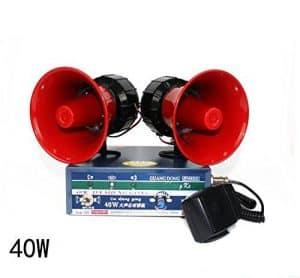 Laut Walkie-Talkie Notfall Auto Warnung Alarm Sirene Horn Lautsprecher Verstärker nur Mikrofon Auto Sirene Fahrzeug Horn mit Mikrofon Lautsprecher System Notfall Sound Verstärker Polizei Sirene 40 W Notfall Sound
