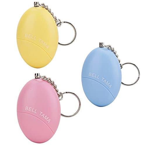 WER Ei Anti-Wolf Alarm - Personal Anti-Vergewaltigung Gerät - Selbstverteidigung Produkte Snatches (Blau + Gelb + Rosa)