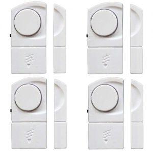 4er 100 dB Fensteralarm Set Türalarm Fenster Alarm Tür Alarmanlage Sicherheit Sirene