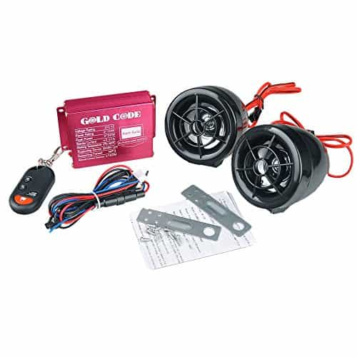 Universal Motorrad Audio FM USB SD MP3 Stereo 2 Lautsprecher Alarmanlage Sound-System mit Fernbedienung