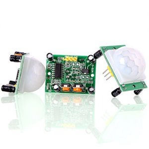 Aukru 3x HC-SR501 Menschliche Körper Pyroelektrizität Infrarot PIR Bewegungssensor Modul