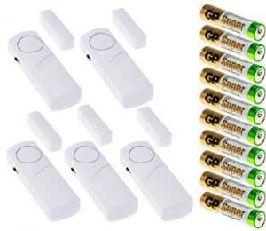 Adapter-Universe® 5x Türalarm AAA Batterien Set Fensteralarm Alarmanlage Sirene Alarm Fenster Tür