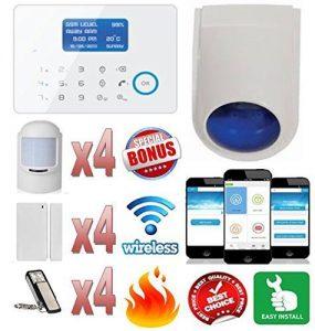 Best *direkten Aufruf/Text Ausschreibungen auf Ihr Handy *drahtlose & tierfreundlich Funkalarmanlage (& Fire Alert. perfekte Alarm, für Zuhause, Wohnmobil, Boot & Outbuilding.. Plus kostenlose iPhone und Android App & Alarm