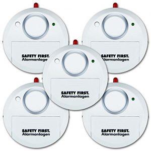 kh security Glasbruchalarm, 5-er Set, weiß, 100161 - set5