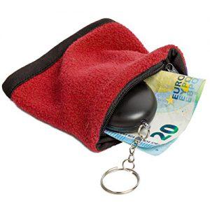 Portables Sicherheitsset gegen Angriff: Schweißband inkl. Mini Taschenalarm, Schlüsselalarm mit 100db lauter Sirene - Rot