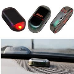 Auto Alarmanlage SOLAR LED Dummy Imitation Diebstahlsicherung Attrappe ... (rot)