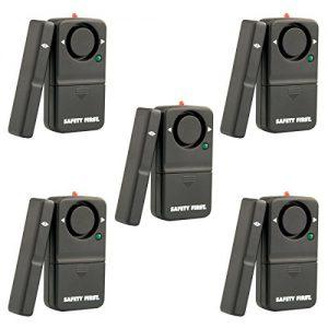 kh security Fensteralarm, 5er Set, schwarz, 100110 - set5