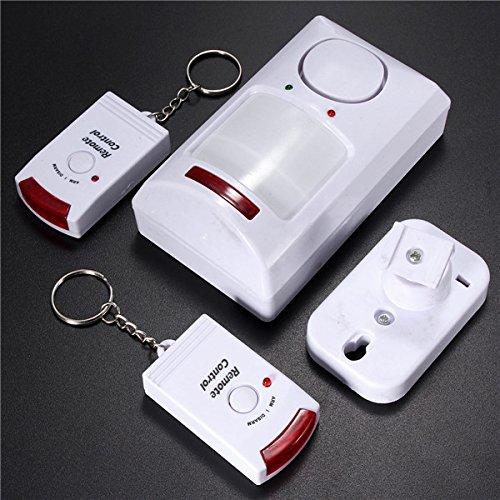Hochgeladen zu Wireless Motion Sensor Alarm IR-Infrarot-Detektor 2 Fernbedienung