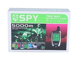 SPY 5000m 2-wege LCD Motorrad Alarmanlage mit Fernbedienung Motor Start Starter und Mikrowelle Sensor