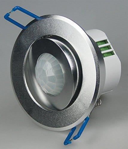 Decken-Einbau-Bewegungsmelder 360°, 230V/1200W, 6m, schwenkbar, silber/Alu