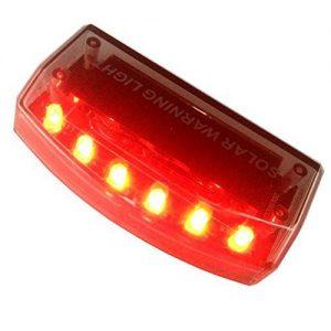 E-3LUE Solar, 50 Auto Alarmanlage, 6 Diebstahlschutz ACHTUNG rot Blinklicht gspx D141 (rot)