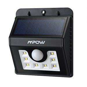 Mpow Solarleuchte 8 LED Solarlampe Sicherheits-, Bewegungs Licht Sensor mit 3 Intelligenten Modi