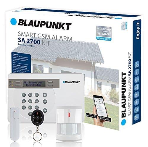 Blaupunkt SA 2700 Smart GSM Funk-Alarmanlage. Sicherheitssystem für Haus, Eigenheim, gewerbliche Räume, Wohnung, Büro, Laden, Geschäft. Steuerung der Alarmanlage mit Smartphone App. Standardset: 1x Alarmzentrale, 1 x Funk-Tür/Fenstersensor, 1 x Funk-Bewegungsmelder, 1 x Funk-Fernbedienung
