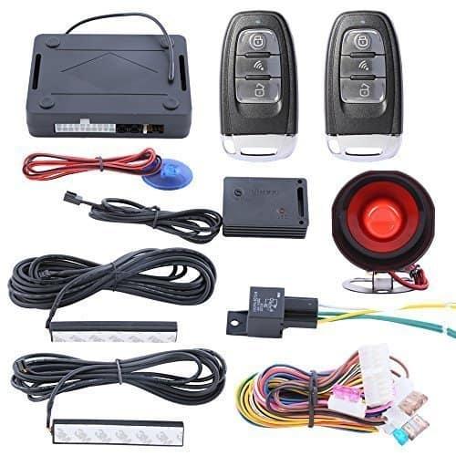 Qualität Hopping Code PKE Auto Alarm System Passiv Schlüsselloser Zugang Auto Schliessen Entsperrt Strom Fenster Ausgang