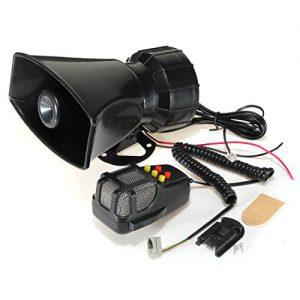 AUDEW 5 Sounds Hupe Sirene Alarm Horn Signalhorn Lautsprecher 50W 12V für Auto Motorrad