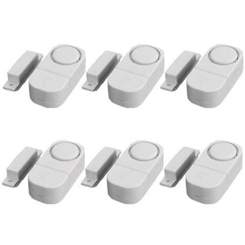 Aussel Mini Tür und Fensteralarm im 6er-Pack Startseite Sicherheit Wireless Sensor Sonic Einbrecher-Alarm