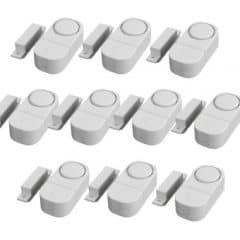 Huston Lowell® Mini Tür und Fensteralarm im Alarm zur Fenstersicherung Einbruchschutz - weiß - 10er-Pack